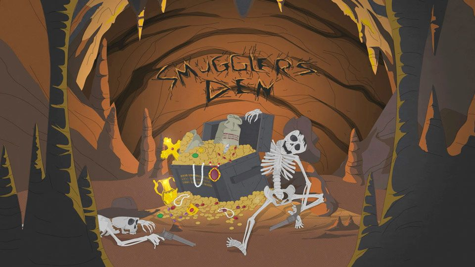 South park cartman craps treasure