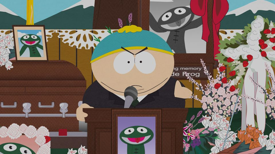 A Funeral For Clyde Frog - Video Clip | South Park Studios